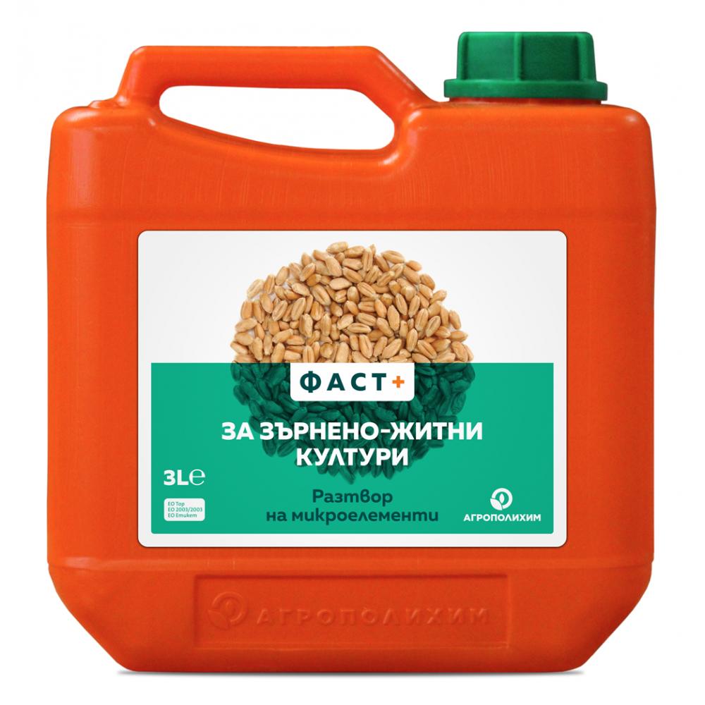 Течен комбиниран тор ФАСТ + за зърнено житни култури